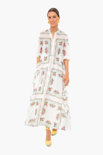 garden veil printed shirtdress