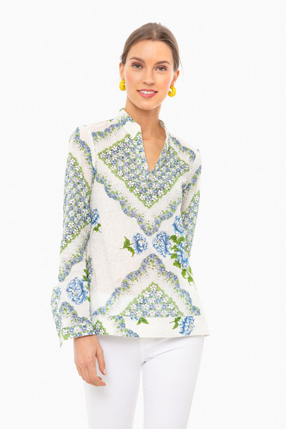 terrace ditsy floral cloud engineered printed cotton tunic