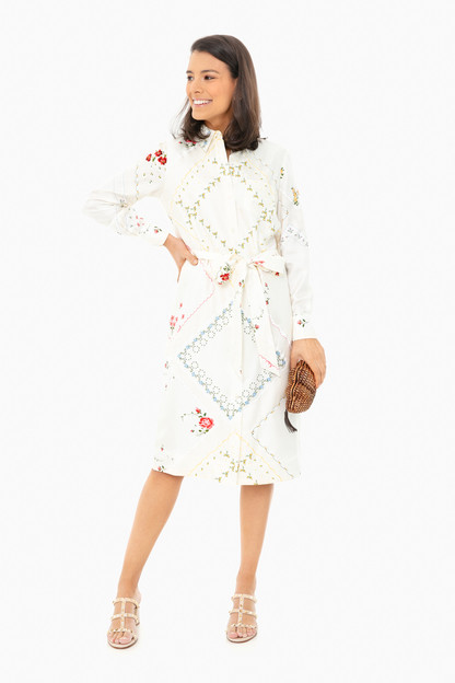 afternoon tea printed shirt dress