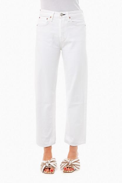 worn white maya high-rise ankle straight