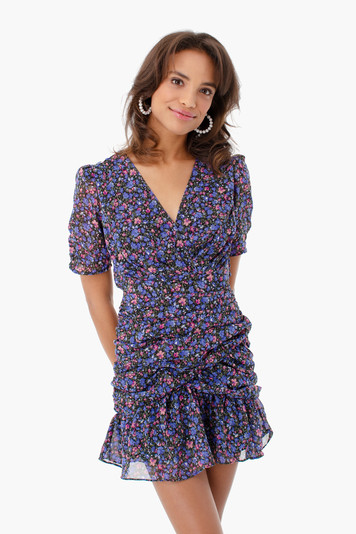 fiona floral mini dress
