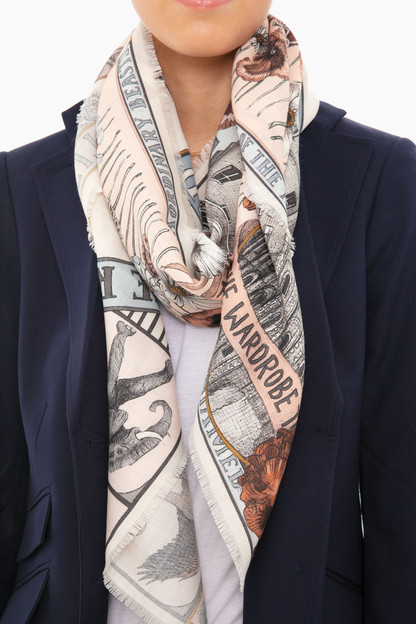 pastel royal striped horse scarf