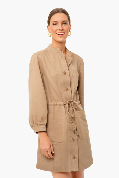 camel nueva aragon mini dress
