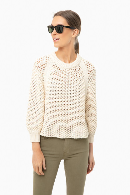 cream merel funnel neck sweater