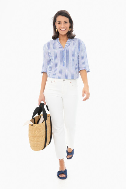 blue adriatric mini stripe alta top