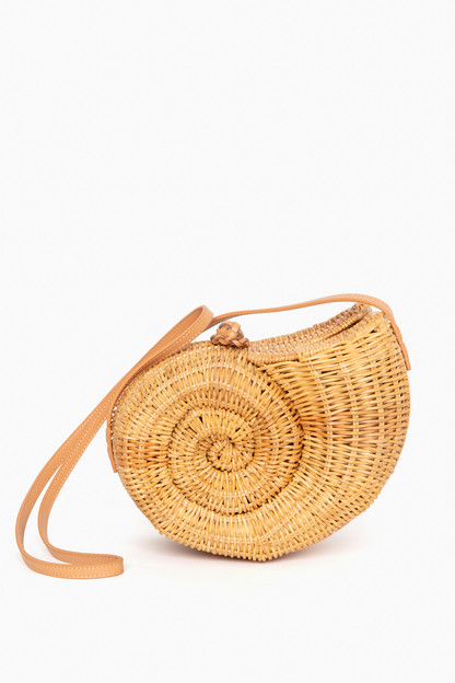 nautilus wicker sling bag