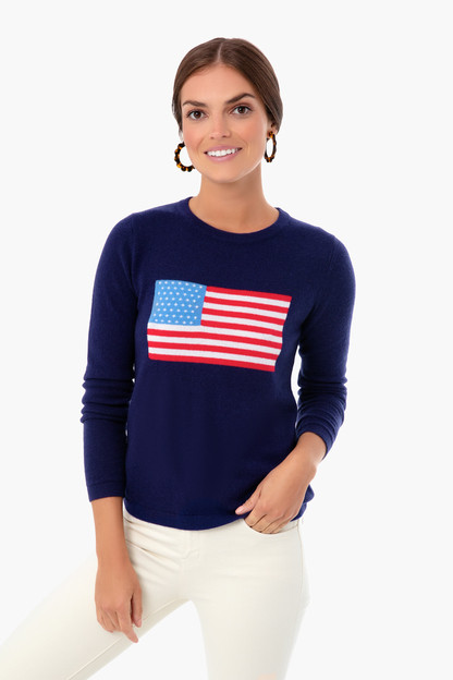 Navy Flag Intarsia Sweater