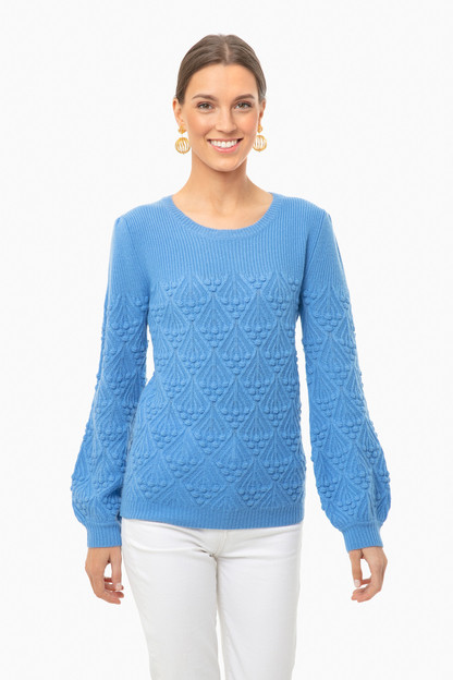cornflower blue bell sweater