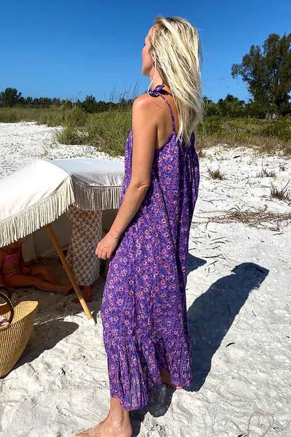 violet wildflower india sundress