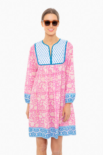 padra print eva pink jaipur dress