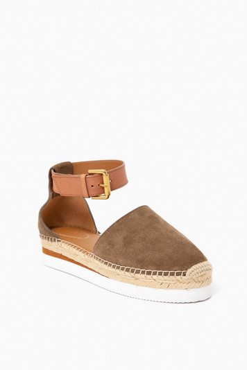 glyn suede closed toe flat espadrille