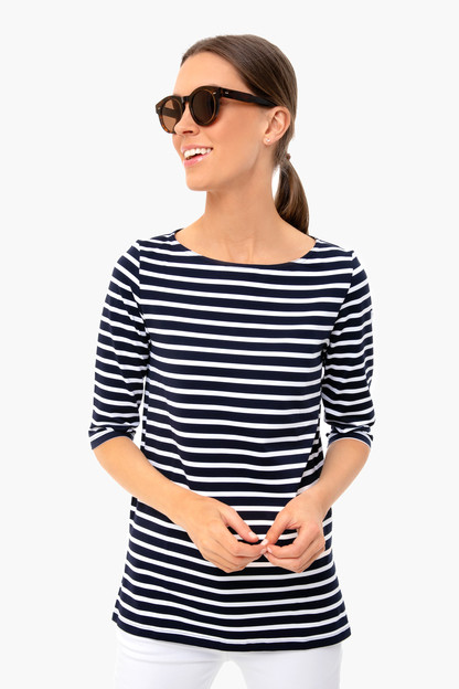 navy-neige phare tunic