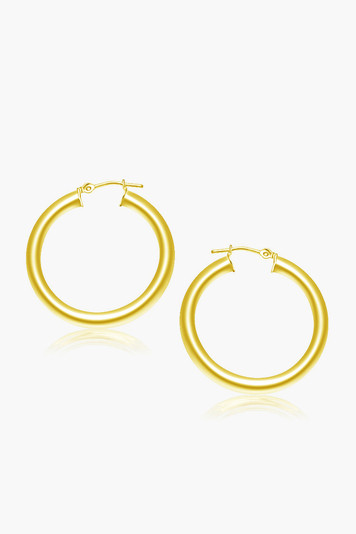 14k gold classic 30mm hoop earrings