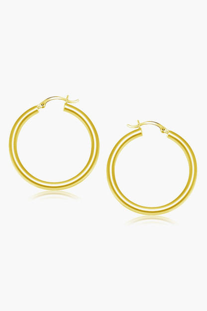 14k gold classic 40mm hoop earrings