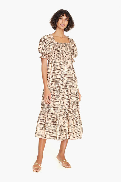 wyldie animal de christin midi dress