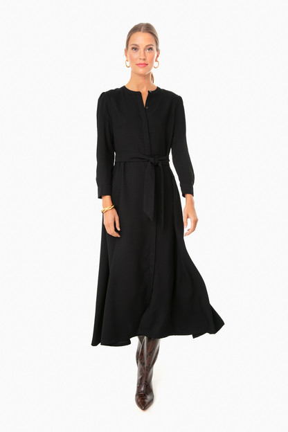 black silk catherine dress