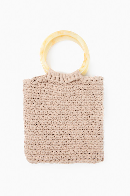 sand and marble cabana tote