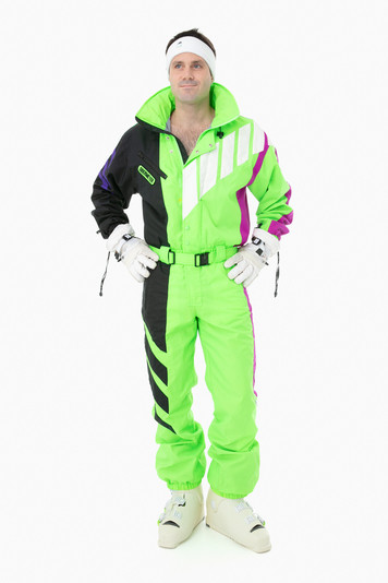 green/black obermeyer rocket onesie