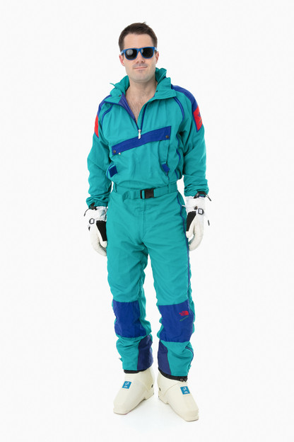 green north face extreme onesie
