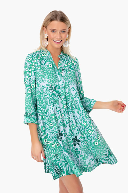 wildflower silk royal shirt dress