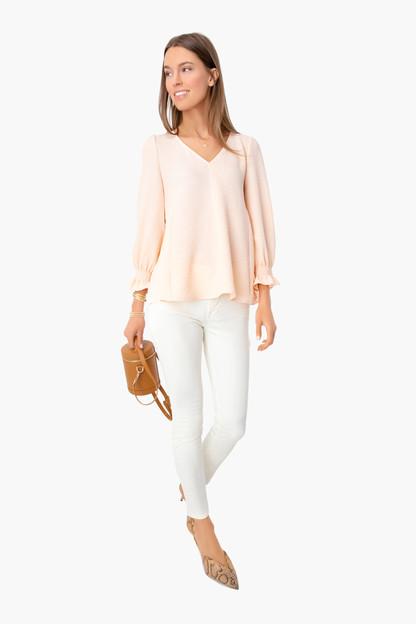 peach easton blouse