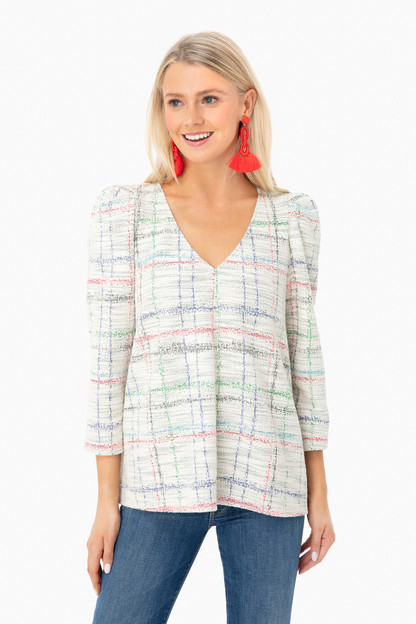 plaid tetley top