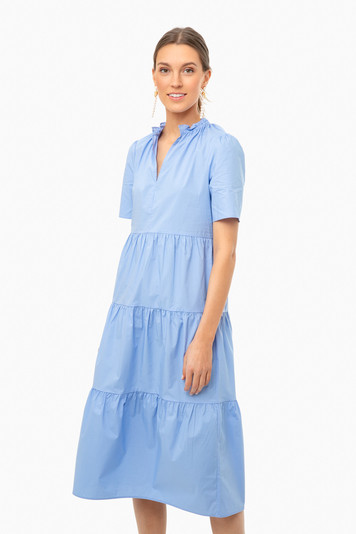 blue iris alania dress