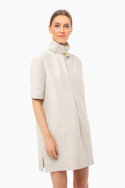 angora gustavsson double face linen dress