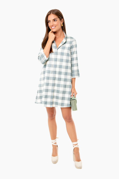 Sage Gingham Charlie Dress