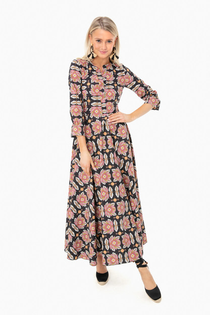 black floral brooke dress