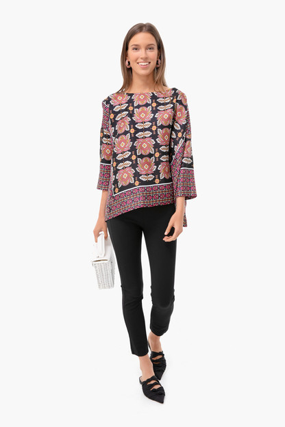 black floral bea blouse