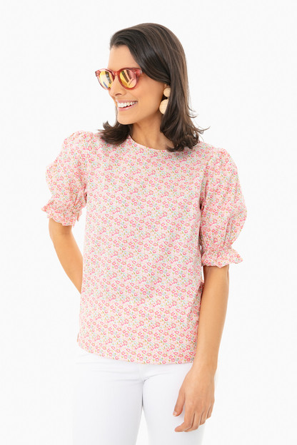 floral bee blouse