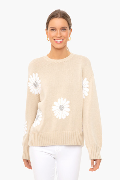 Tan Miss Daisy Sweater