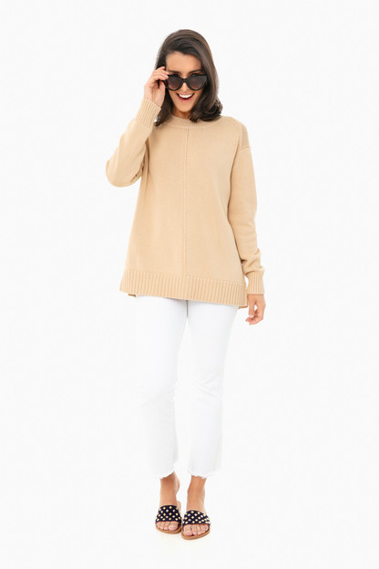 beige brant point sweater