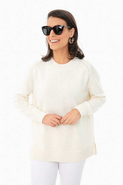 ivory brant point sweater