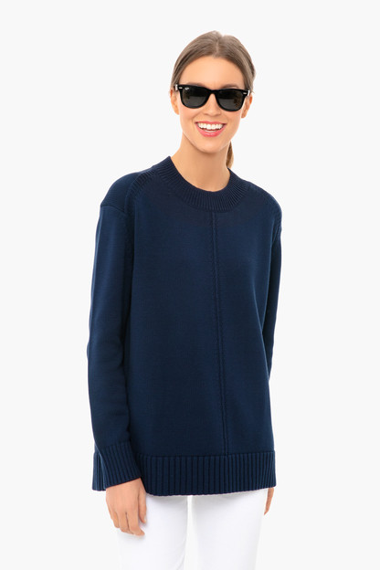 Navy Brant Point Sweater