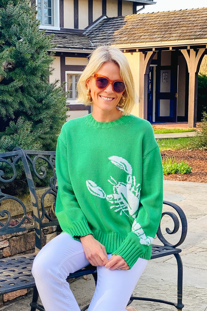 grass lobster rockland sweater