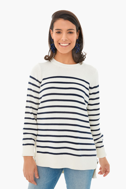 ivory bar harbor striped sweater