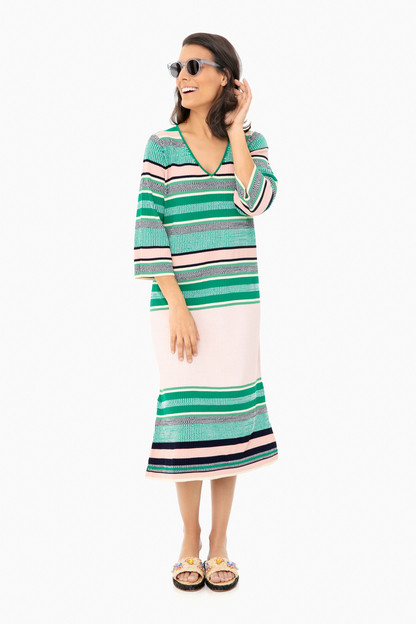 retro striped stevie knit dress