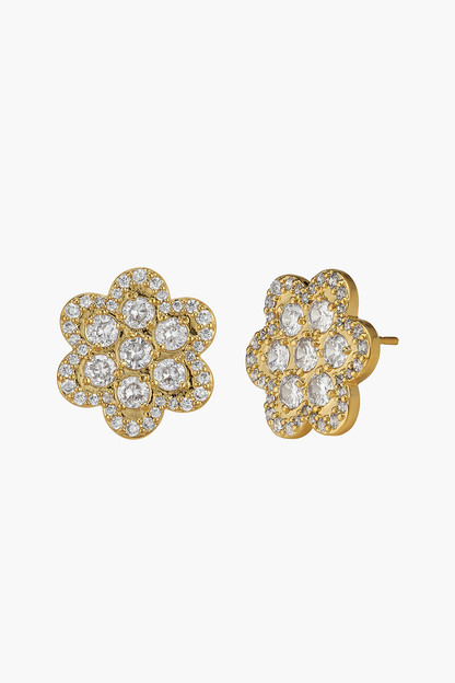 delphine pave stud earrings