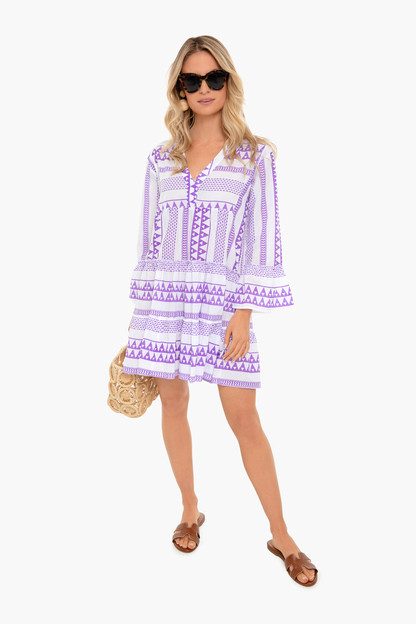 lavender salma dress