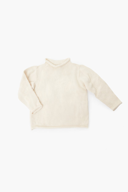 natural roll neck sweater