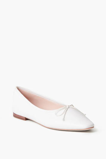 optic white georgie ballet flat
