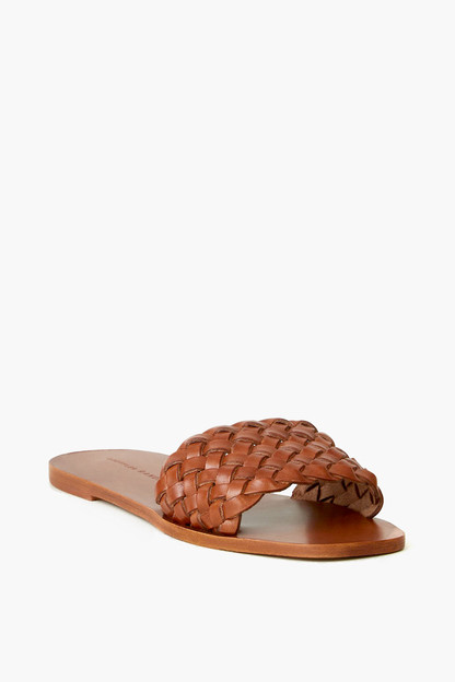 joey woven square toe slide sandal