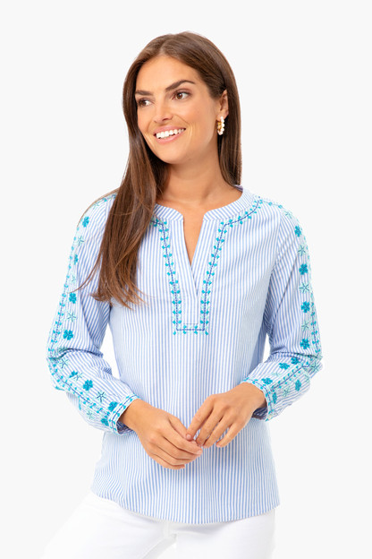 pop embroidered savannah top