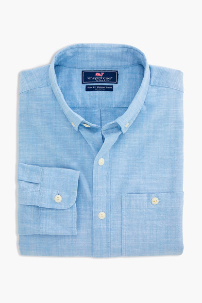 chambray slim longshore shirt