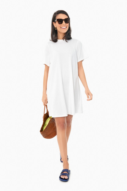 white zoe mini tee dress