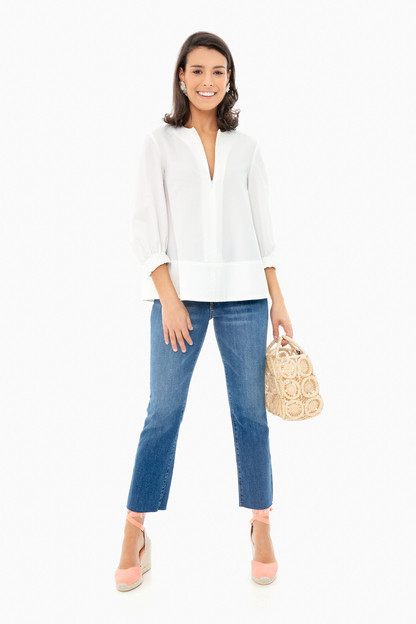 white seersucker kieran blouse