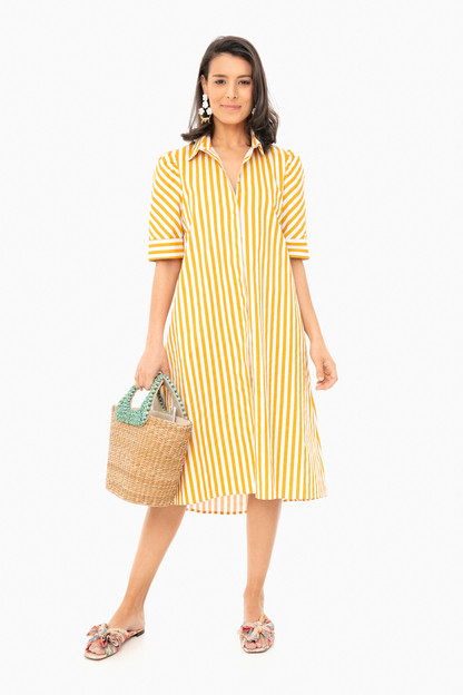 marigold stripe kayla dress