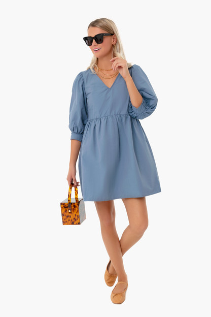 slate blue taffeta lizzie dress